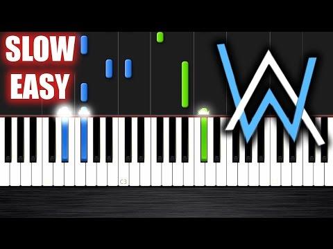 Alan Walker - Faded - SLOW EASY Piano Tutorial by PlutaX