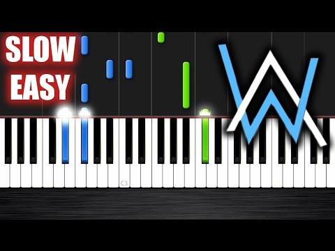 Alan Walker Faded Slow Easy Piano Tutorial By Plutax Youtube