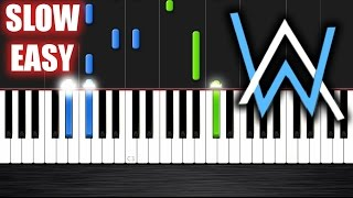 Alan Walker - Faded - SLOW EASY Piano Tutorial by PlutaX