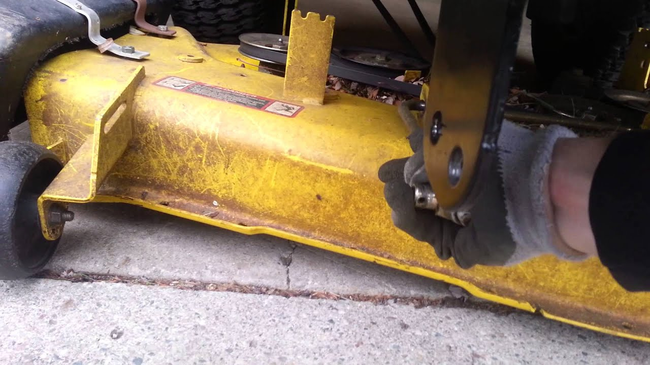 Removing Mower Deck On Z425 For Snow Plow