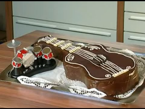 rezept guitar cake youtube. Black Bedroom Furniture Sets. Home Design Ideas