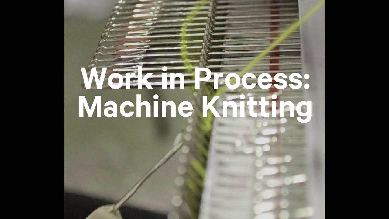 Work In Process Machine Knitting Youtube