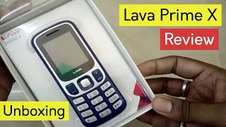 Lava Prime X Keypad Mobile Unboxing & Full Specifications Review, 1.3 MP Camera