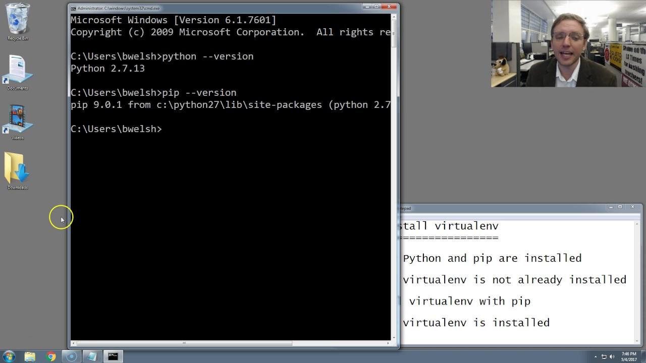pip install virtualenvwrapper windows