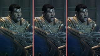 4K Gears of War 4 Xbox One X Enhanced vs. Xbox One S Graphics Comparison