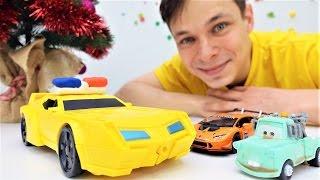 Детское видео: Плей До! Машинки и подарки на новый год! Маквин, трансформеры и другие