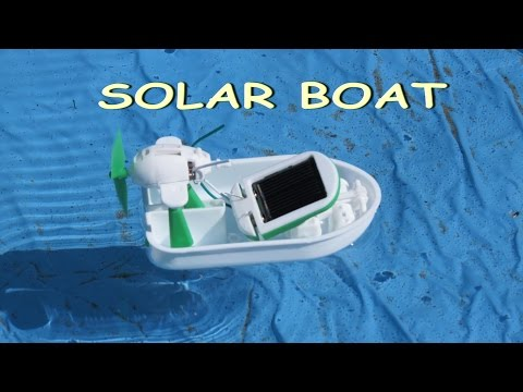 How to assemble the solar airboat / Electric robots / Solar toy
