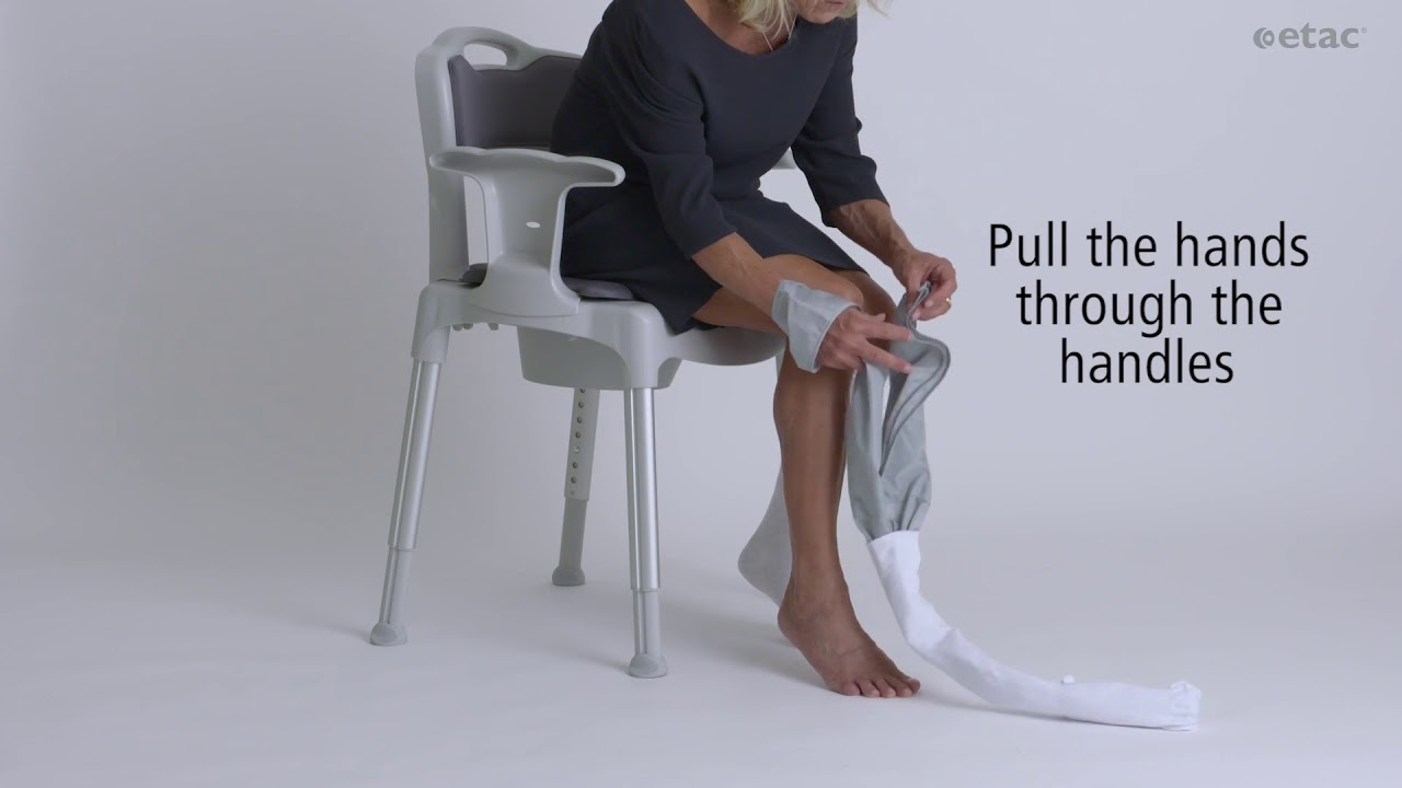 9f665a2aa81 Need help putting on support and compression stockings  - YouTube