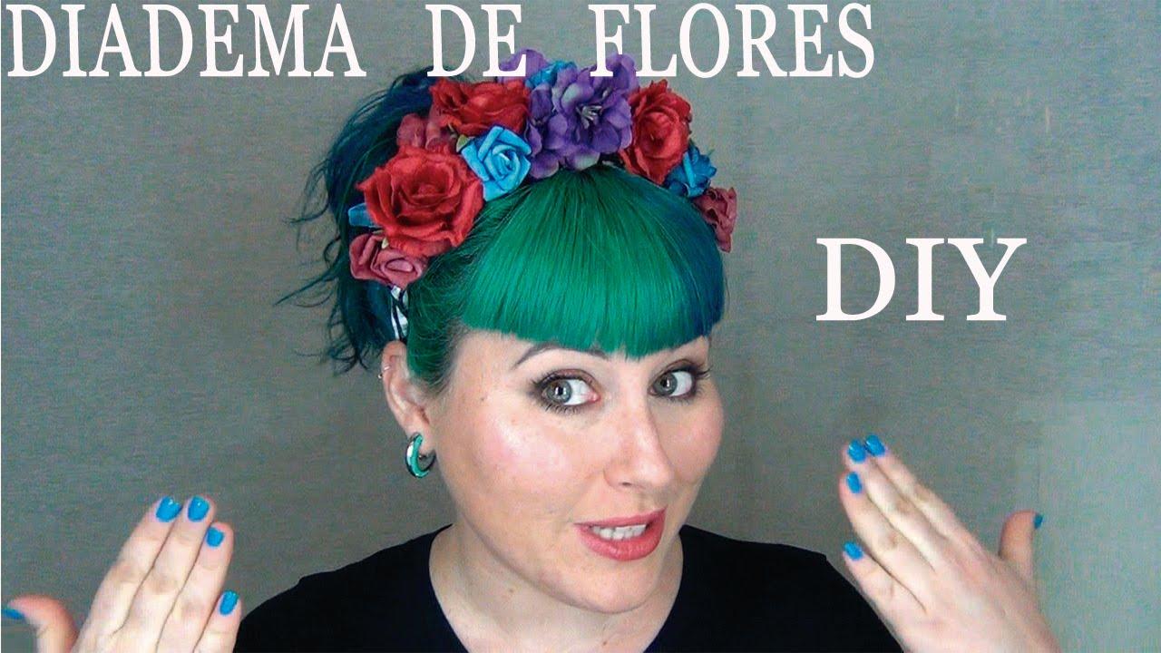 como hacer diademas de flores
