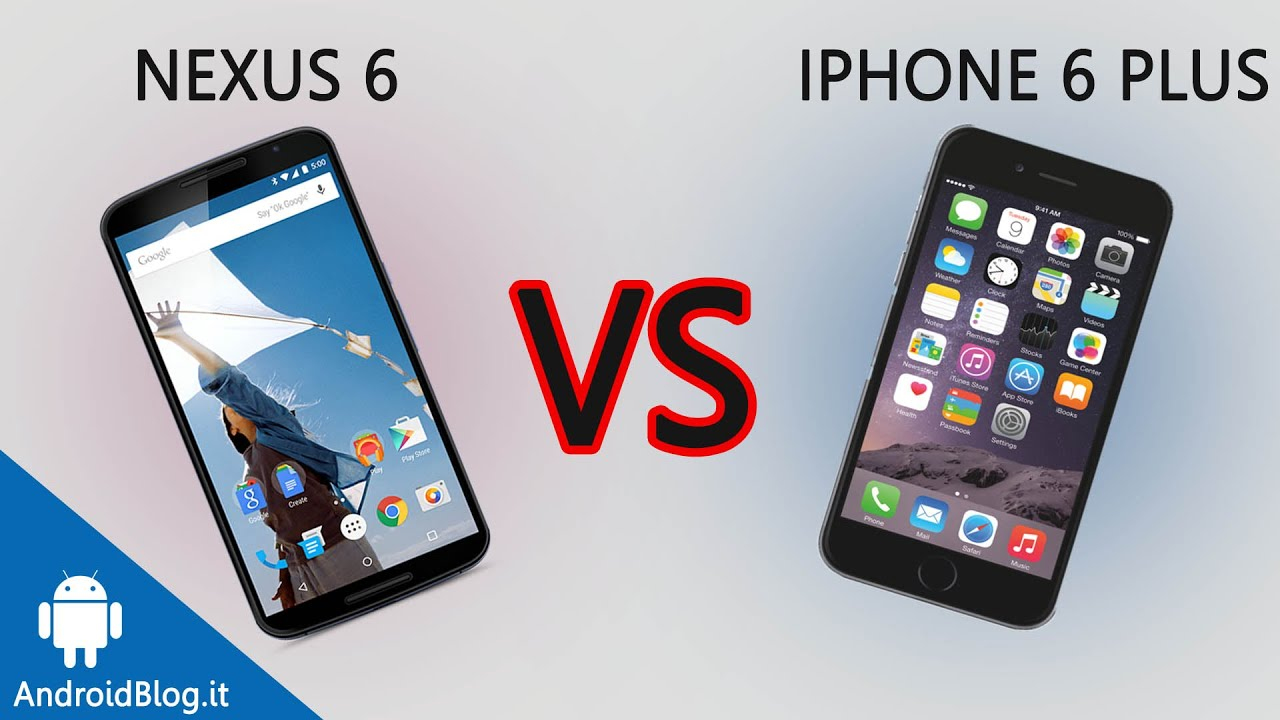 Motorola Nexus 6 vs iPhone 6 Plus di AndroidBlog.it - YouTube