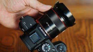 Samyang AF 18mm f/2.8 FE lens …