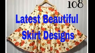 Latest Skirt Designs || Daily Wear Colorful Cotton Skirt Designs