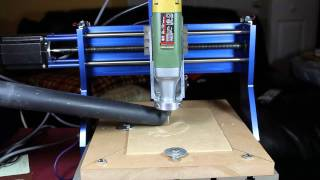 Cnc Cutting Into Particle Board