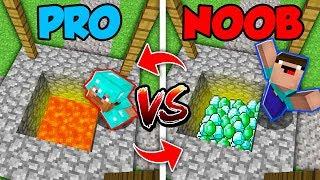 Minecraft NOOB vs. PRO : SWAPPED HIDDEN TREASURE (Compilation)