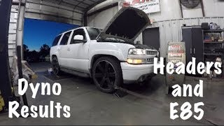 Tahoe Headers Dyno Results with E85