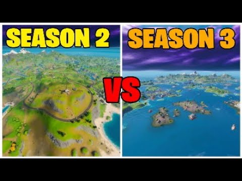 Fortnite Season 3 Map VS Season 2 Map (Comparison)