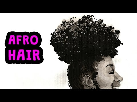 Drawing Afro Hair Youtube