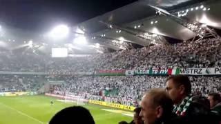 Legia-Lech. Widok na trybuny w 55 min.
