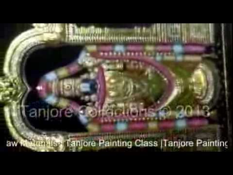 Learn tanjore painting techniques