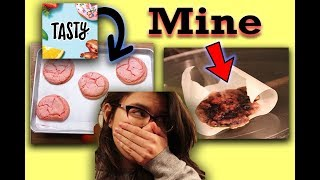i messed up bad folks,, smoke everywhere | Following Buzzfeed Tasty Cookie Recipe
