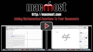 Adding Mathematical Equations To Your Documents (#1049)