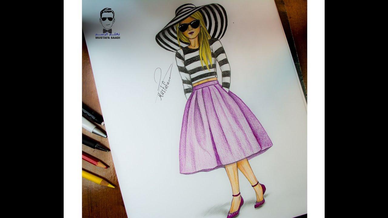 f47ac70fc  تعليم الرسم للملابس والازياء how to draw design and fashion - YouTube