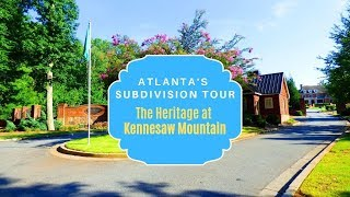 Atlanta's Subdivision Tour and Homes for Sale in Heritage at Kennesaw Mountain