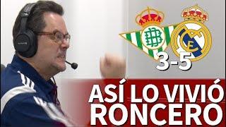 Betis 3-5 Real Madrid   Roncero celebró con rabia los goles de Asensio   Diario AS