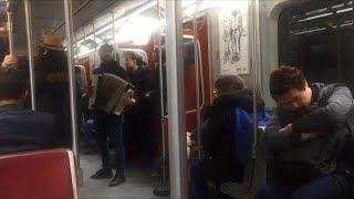 Accordion players playing 'Despacito' spotted on TTC