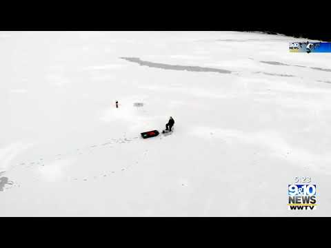 Northern Michigan From Above: Cadillac Ice Fishing