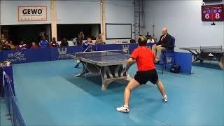 Westchester Table Tennis Center Nov 2018 Open Singles Final  Sharon Alguetti vs Kai Zhang