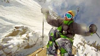 GoPro HD: Skiing Cliff Jump with Jamie Pierre