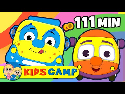 Wheels on the Bus | Popular Nursery Rhymes Collection by KidsCamp | 111 Minutes Kids Songs
