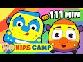 Wheels On The Bus | Popular Nursery Rhymes Collection By Kidscamp | 111 Minutes Kids Songs video