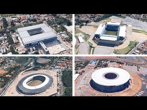 World Cup 2014: fly around the stadiums in Brazil