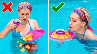 Best Swimming Pool Hacks || Everyday Hack For Hot Days