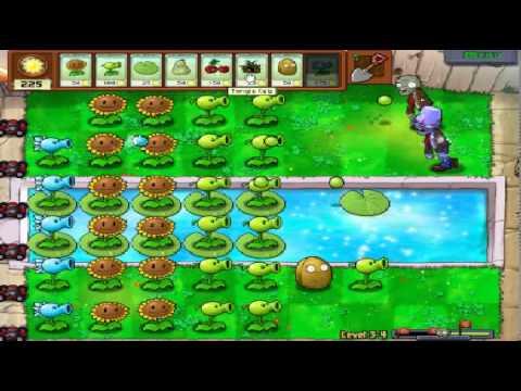 Plants vs zombies (Trồng cây bắn zombie) - Cấp độ 3-4 (Game Việt Hóa)