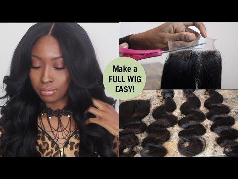 How To Make a FULL Lace Closure Unit...