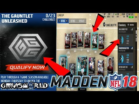 Madden 18 Tips: How To Set Your Lineup For Any Chemistry! Gauntlet Unleashed In Madden 18 Gameplay