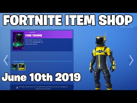 *NEW* TOXIC TROOPER STYLES! - Itme Shop June 10th (Fortnite Battle Royale Livestream)