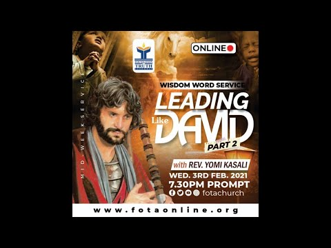 Are You Leading Like David?  1 27th January 2021