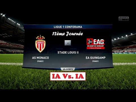 Monaco - Guingamp [FIFA 18] | Ligue 1 Conforama 2017-2018 (12ème Journée) | IA Vs. IA