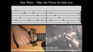 Guitar Tutorial 1 - Star Wars - May The Force Be With You - Full Tab