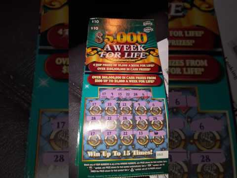 5 000 A Week For Life Florida Lottery Scratch Off Ticket