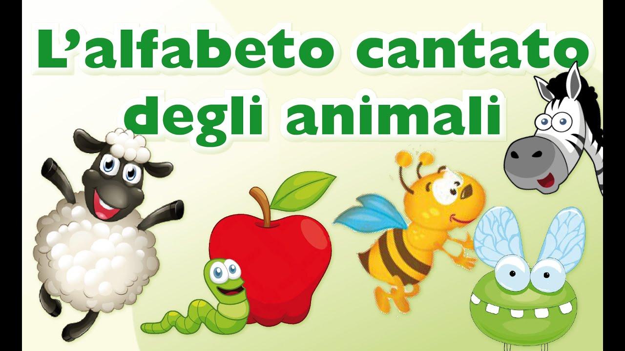 L 39 alfabeto cantato degli animali cantiamo la grammatica - Animali terrestri per bambini ...