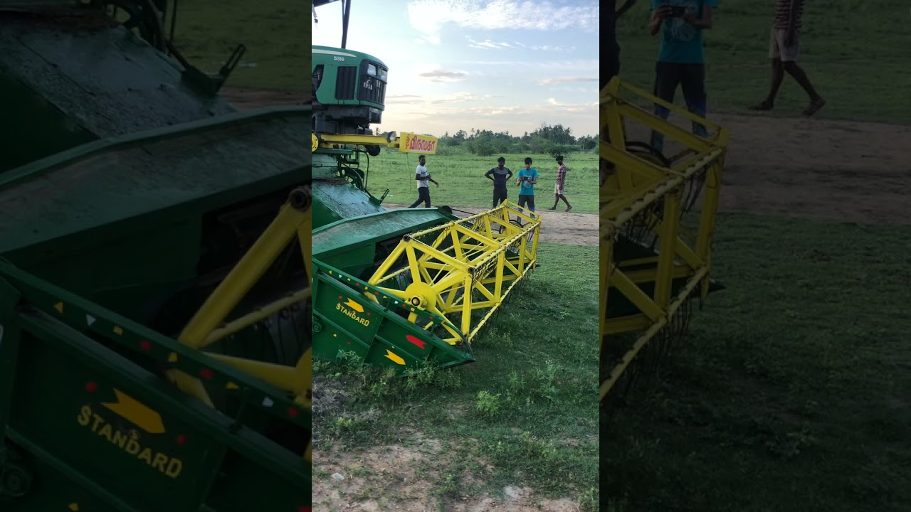 John Deere Tractor Harvester | Cricket ground preparation | John Deere 5310 King of harvester
