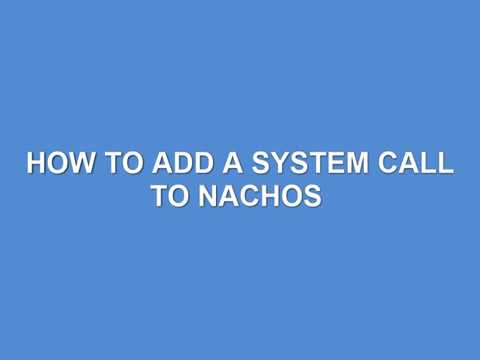 How to add a system call to nachos