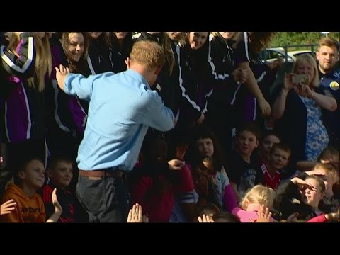 Can you dab? Let Prince Harry show you how