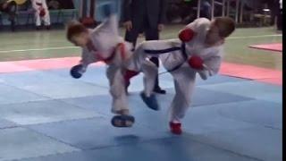 """Турнир """"Путь Воина"""" 14.05.2016 каратэ дети 7 лет бой достойный финала,karate kids,kumite,Лавриков"""