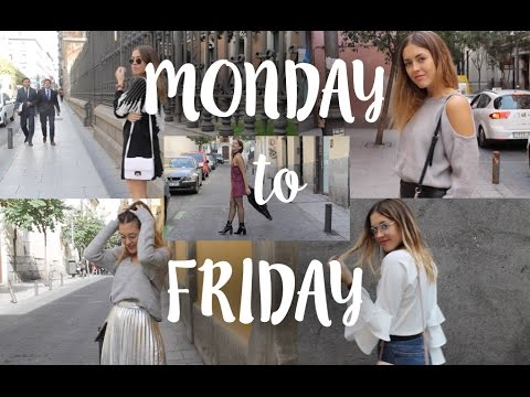 Monday to Friday outfits// Looks de Lunes a Viernes